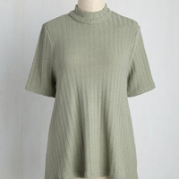 Have My Knits About Me Top | Mod Retro Vintage Short Sleeve Shirts | ModCloth.com