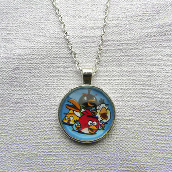 Angry birds, Cartoons, funny cartoons pictures,  photo jewelry, creative jewelry, small gift ideas, cool necklaces, jewelry for kids