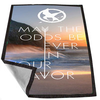 Hunger Games Quote may the odds be ever in your favor ocean beach 10543a9b-6d94-46c1-bd14-7e19e1bce8aa for Kids Blanket, Fleece Blanket Cute and Awesome Blanket for your bedding, Blanket fleece *02*