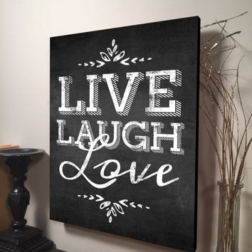 Live Laugh Love Wall Art Inspirational Quote Home Decor Canvas Art Quote Live Love Laugh Canvas