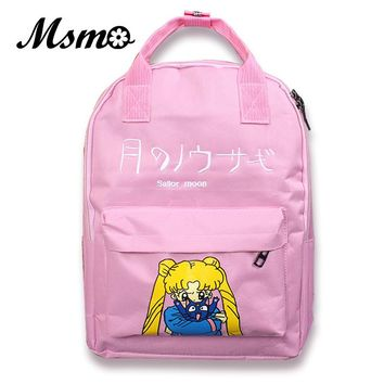 MSMO Japanese Samantha Vega Sailor Moon Women Backpack School Bags For Teenager Girls Book Bag Rucksack Harajuku Style Back pack