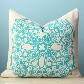 Modern Moroccan Pillows : Turquoise Moroccan Linen Pillow Cover from LaurenAlison on Etsy