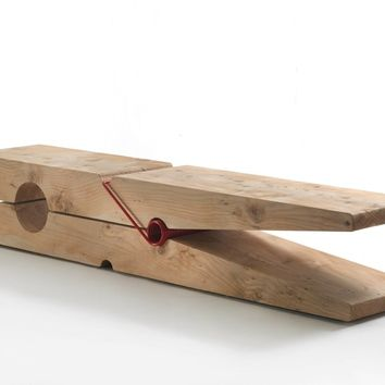 DESIGN SOLID WOOD BENCH MOLLETTA | RIVA 1920