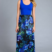 Sun Kissed Saturday Maxi Dress - Royal