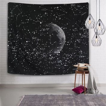 Enipate Psychedelic Constellation Galaxy Space Pattern Tapestry Wall Hanging Light-weight Polyester Fabric Wall Decor Home