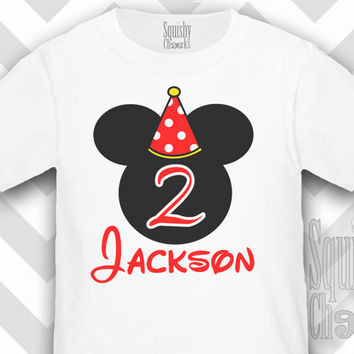 Mickey Mouse Birthday Shirt - Personalized Birthday Shirt - Boy's Mickey Birthday - Custom 1st Birthday, 2nd Birthday and so on!