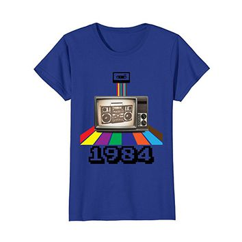 Retro Style 1984 80s t-shirt Birthday Men Women