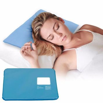 2017 Summer Chillow Therapy Insert Sleeping Aid Pad Mat Muscle Relief Cooling Gel Pillow Ice Pad Massager