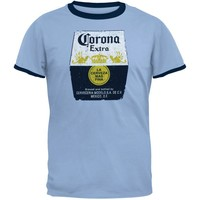 Corona - Distressed Logo Ringer Adult T-Shirt