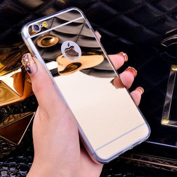 Luxury Mirror Electroplating Cases For iphone 6 6S 7 For iPhone6 7 Plus 5.5 inch 5 5s