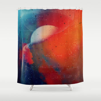 Space Debris Shower Curtain by DuckyB (Brandi)