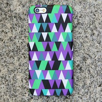 Violet Geometric iPhone 6s case iPhone 6 plus Triangle iPhone 5S 5 iPhone 5C iPhone 4S/4 Case Green Samsung Galaxy S6 edge S6 S5 S4 Case 043