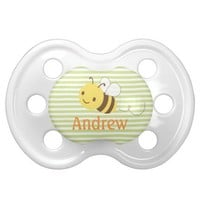 Cute Custom Bumblebee Pacifier w Baby's Name