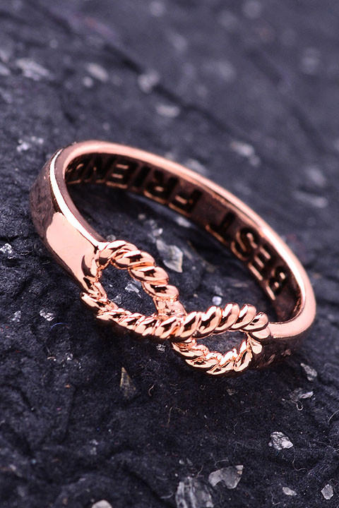 best friends infinity rope gold ring from metimeboutique