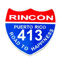 Wood House Sign- Home decor- Rincon Puerto Rico 413 -Surfers Sign