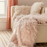 Faux Lamb Fur Throw Blanket | Urban Outfitters