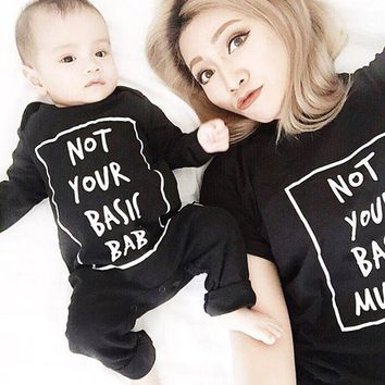 Funny Newborn Baby Boys Girls Clothes Romper Cotton Long Sleeve Jumpsuit Black Baby Boy Clothing Outfits