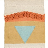Hand Woven Wall Hanging Decor with Triangle Voyager Pattern