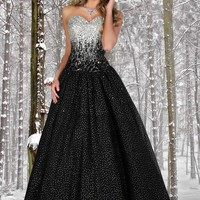 Disney Forever Enchanted 35515 Black/Silver Ball Gown