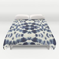 BOHEMIAN INDIGO BLUE Duvet Cover by Nika