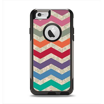 The Retro Chevron Pattern with Digital Camo Apple iPhone 6 Otterbox Commuter Case Skin Set
