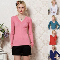 Women's Sweaters and Pullovers Knitted Long Sleeve Warm Sweaters = 1945761668