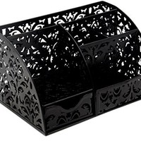 Office Accessories Desk Organizer Caddy with Drawer ,Black