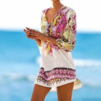 Chiffon Print Swimsuit Cover Up