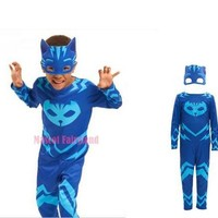 2017 new   PJ Masks cosplay costumeand  and PJ mask hero of children cosplay costumebirthday party cosplay costume