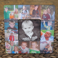 """Personalized Baby Picture Frame, Baby's First Year, Unique Custom Baby Collage Christmas Picture Frame 8"""" x 8"""""""
