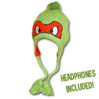 Teenage Mutant Ninja Turtles Michelangelo Laplander w/ Headphones - Orange | TeesForAll.com