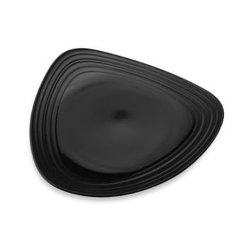 Mikasa® Swirl Triangle Dinner Plate in Black