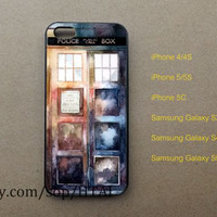 Doctor Who Tardis Watercolor iPhone 5 Case iphone 4/4S case iphone 5S/5C case samsung galaxy S3 S4 S5 case
