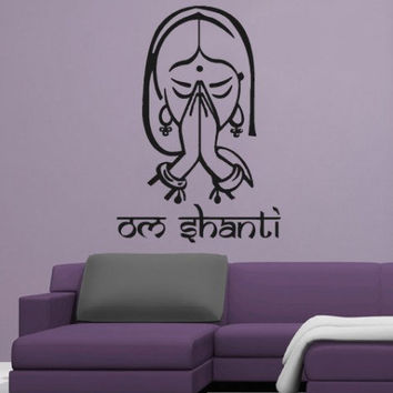 Om Shanti wall decal - 32.7 x 46.5 inches
