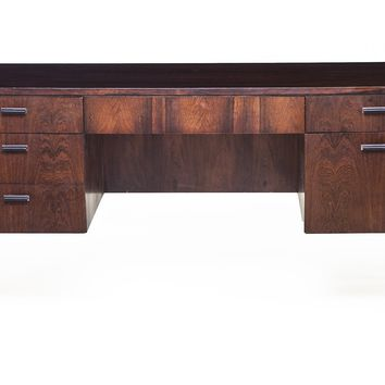 Vintage, Mid-Century Rosewood Desk Attributed to Harvey Probber