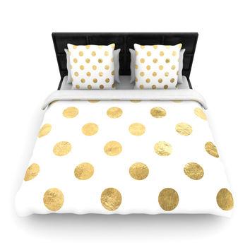 "KESS Original ""Scattered Gold"" Woven Duvet Cover"