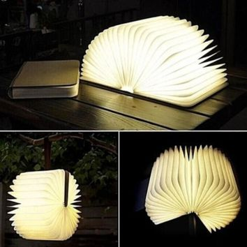 Creative Lumio-Style Luxury LED FOLDING BOOK LAMP 4 Colors Book Light