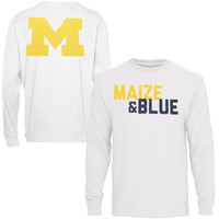 Michigan Wolverines Colors Long Sleeve T-Shirt – White