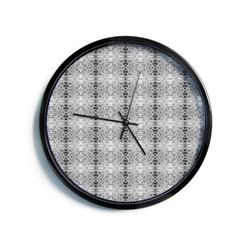 "Bruce Stanfield ""Rage Against the Machine BW"" Black White Modern Wall Clock"