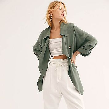 Double Breasted Lightweight Trench Coat