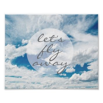 clouds and sky photography poster with text