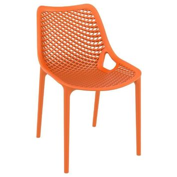 Air Outdoor Dining Chair Orange (Set of 2)