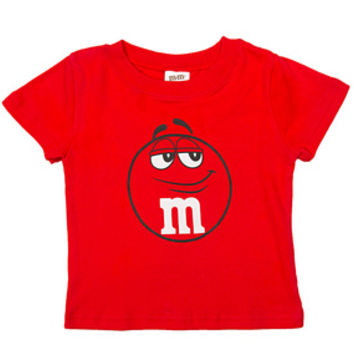 M&M's Candy Character Face T-Shirt - Toddler - Red - 2T
