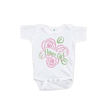 Custom Party Shop Baby Girl's Flower Girl Wedding Onepiece