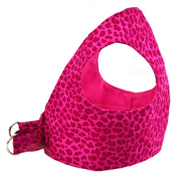 Hot Pink Leopard Dog Step In Harness