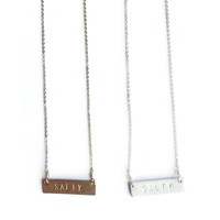 """""""SALTY"""" Stamped Necklace"""