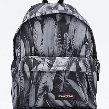 Eastpak PakR Feather Print Padded Backpack in Grey - Urban Outfitters