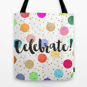 Celebrate Tote Bag, Custom Tote Bag, Customized Tote Bag, Personalized tote bag, Bridesmaid tote bag, Bridesmaid set of 4 / 6 / 8...