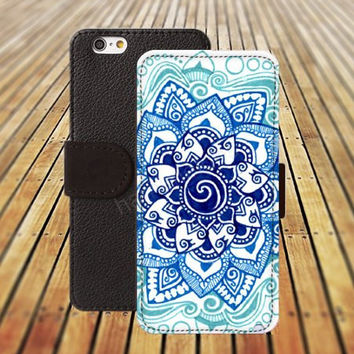 iphone 5 5s case rainbow flowers mandala colorful iphone 4/4s iPhone 6 6 Plus iphone 5C Wallet Case,iPhone 5 Case,Cover,Cases colorful pattern L221
