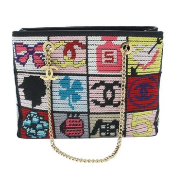 Chanel Precious Symbols Needlepoint Bag Purse